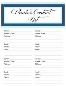 Southern Wedding Planner Wedding Belle Printable Vendor Contact By Poshsouthernplanners