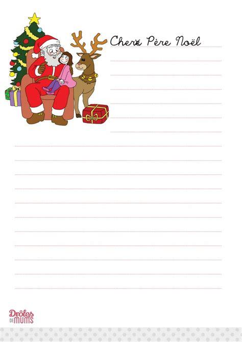 Exemple De Lettre Du Pere Noel A Imprimer Lettre Pere Noel 224 Imprimer Mod 232 Le De Lettre