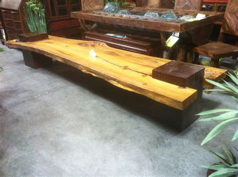 wood slab benches 32 best images about slab wood benches on pinterest