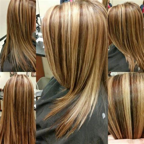 photos of hair colour foils we did 2 blonde foils then 1 brown foil the lowlights are