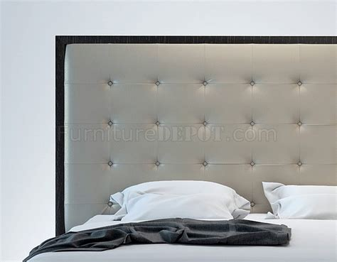 oversized tufted headboard md317 ludlow dusty grey wenge modern bed by modloft