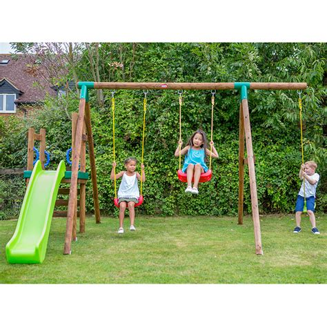 swings and slides for small gardens little tikes hamburg kids swing and slide outdoor garden