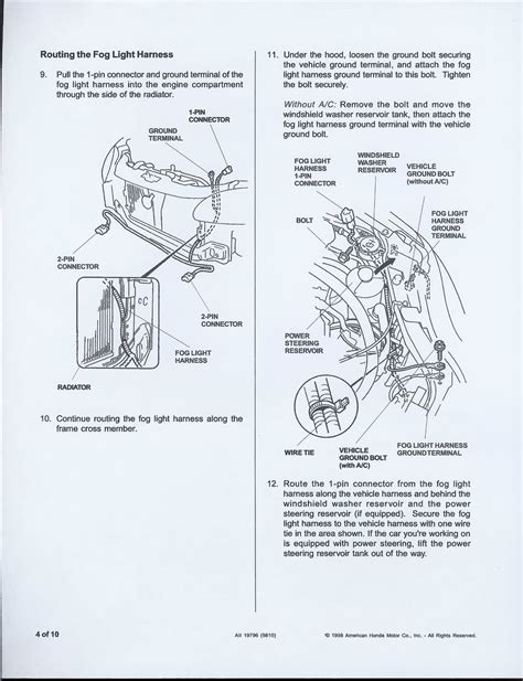 99 civic headlight wiring diagram 33 wiring diagram