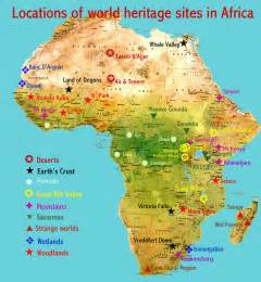 africa map deserts places heritage