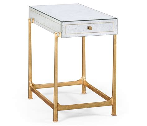 glass side table with drawer luxury gilded iron glass side table with drawer swanky