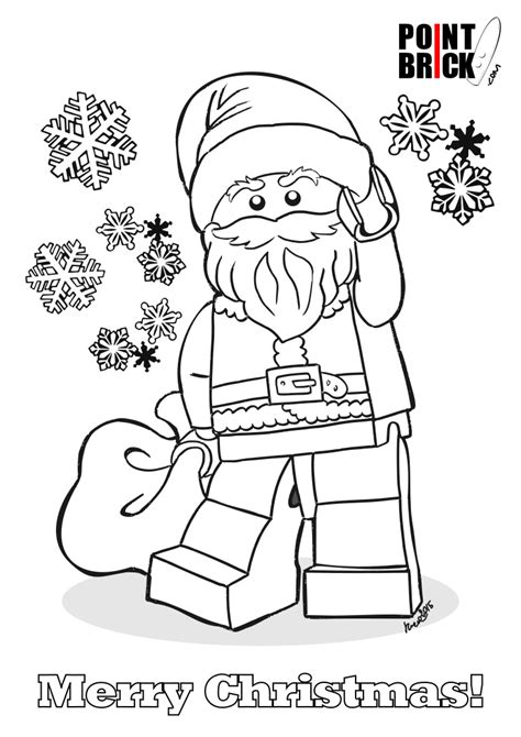 Lego Santa Coloring Page | disegni da colorare lego babbo natale santa claus
