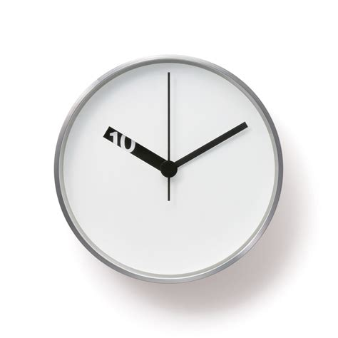 Design Clock by Ross Mcbride Extra Normal Wall Clock White Nova68