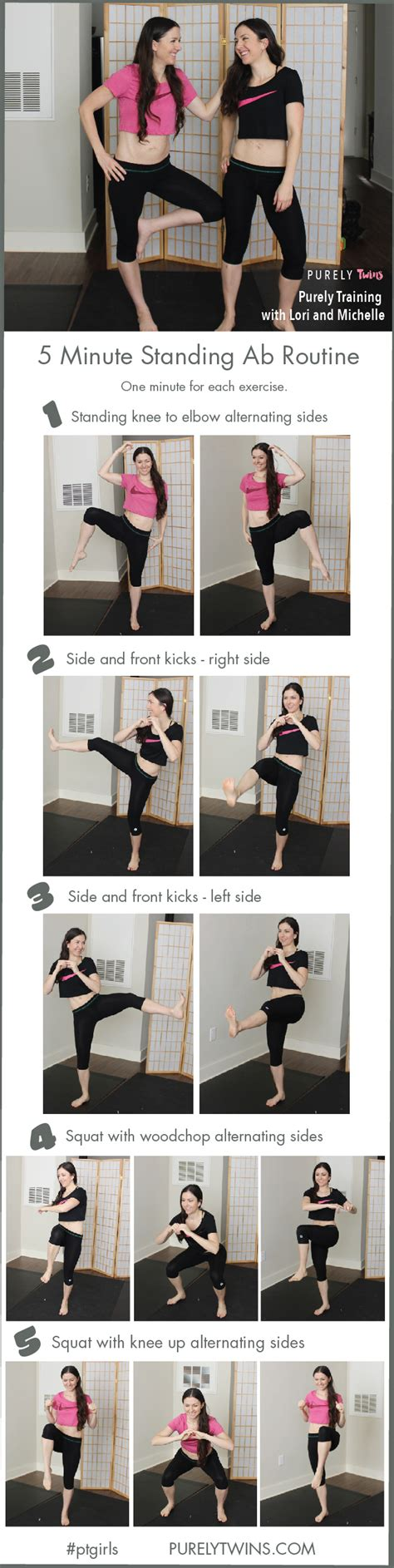 10 Minute No Floor Workout - 5 minute standing ab workout routine