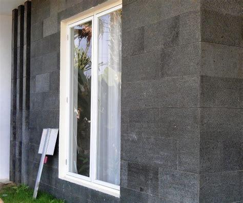 Hiasan Dinding Yang Cocok Untuk Dipajang Di Tembok Kantor Kode A4 gambar teras depan rumah batu alam dan 30 dinding batu