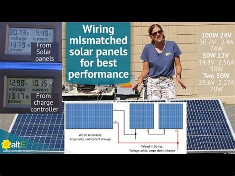 how to wire up solar panels to your house how to wire mismatched solar panels in series and parallel youtube