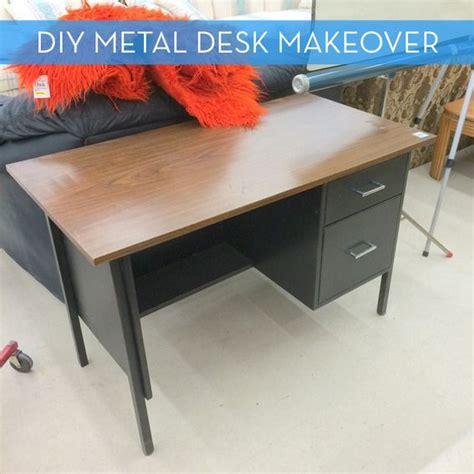 Diy Metal Desk Best 25 Metal Desk Makeover Ideas On Pinterest Desk Makeover File Cabinet Desk And Painting