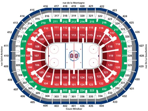 section rouge centre bell centre bell plans des salles
