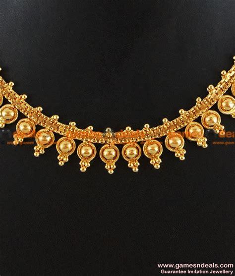 beaded choker necklace designs nckn135 gold plated attigai traditional beaded choker
