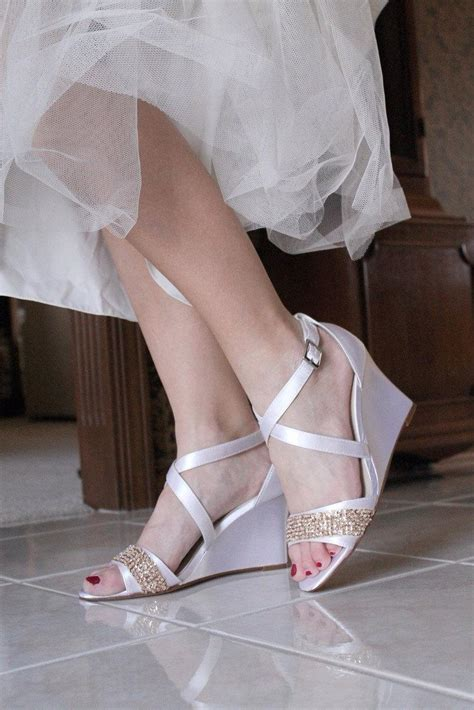 Bridal Wedge Sandals by Wedding Shoes Low Heel High Heel Wedge Sandals Bridal