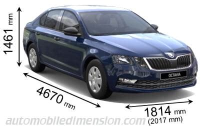 skoda octavia dimensions 2013 dimensions of škoda cars showing length width and height