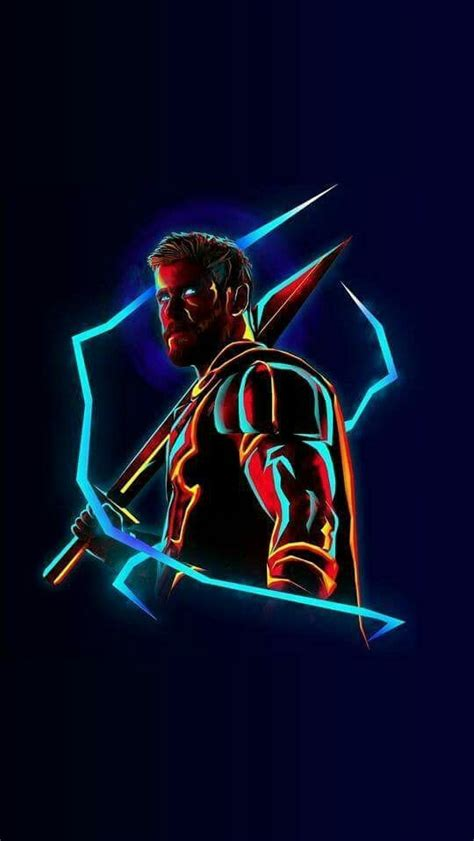 thor neon avengers infinity war iphone wallpaper iphone wallpapers
