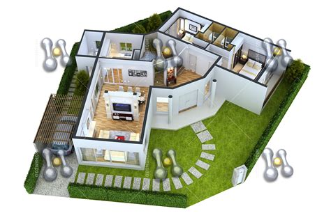 3d 3 bedroom house plans simple house plan with 3 bedrooms 3d simple house plan