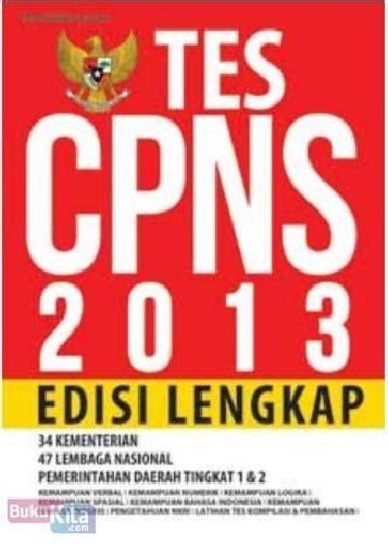 Tes Buku bukukita tes cpns 2013 edisi lengkap