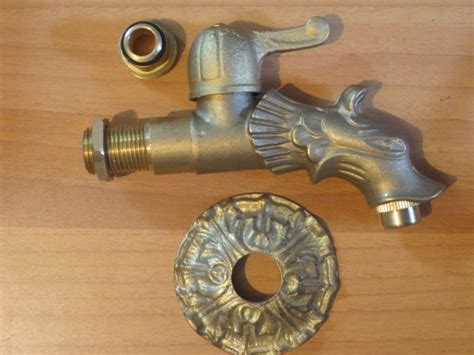 rubinetto fontana rubinetto per fontana mod dragone con leva in ottone