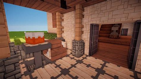 small suburban house � minecraft house design