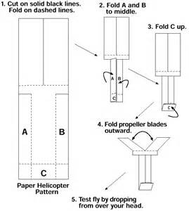 Paper Helicopter Template by Paper Helicopters Ingridscience Ca