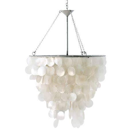 Capiz Pendant Chandelier Worlds Away Chandelier With Capiz Shells
