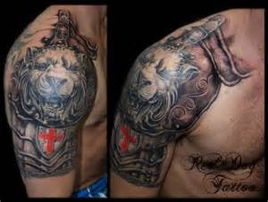lion armour half sleeve not finished yet tattoo done