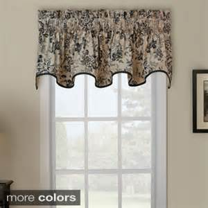 Window Toppers Palmer Toile Wave Window Valance