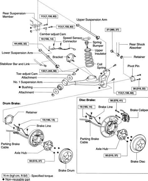 Toyota Rav4 Rear Suspension Diagram