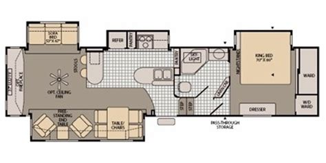 fleetwood 5th wheel floor plans fleetwood fifth wheel floor plans autos post