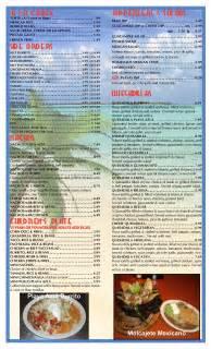 Hutch S Restaurant Menu Playa Azul Menu