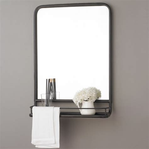 metal mirror with shelf small shades of light