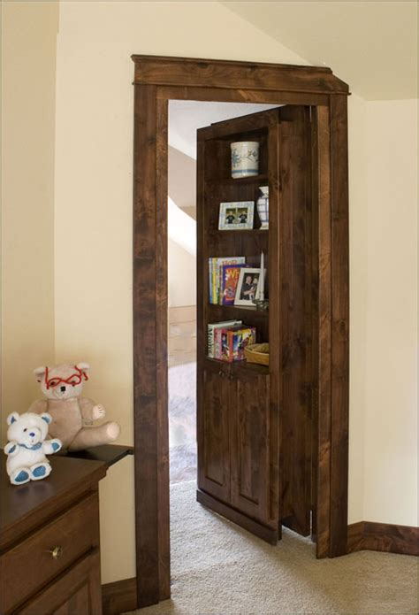 custom wooden secret bookcase door stashvault