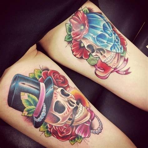 skull tattoo for couples 40 sugar skull tattoo meaning designs
