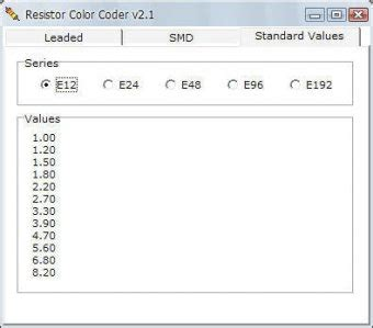 resistor color code v2 resistor color coder 2 1 free res color code exe