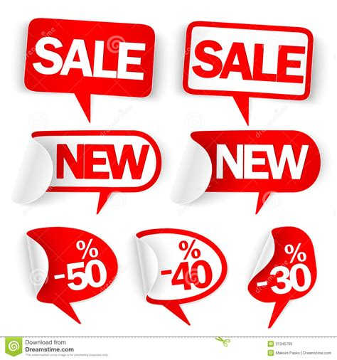 new year sale vector new labels royalty free stock photo image 31345795