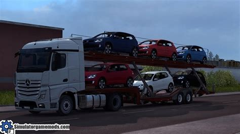 volkswagen cer trailer ets 2 volkswagen golf gti car transport trailer