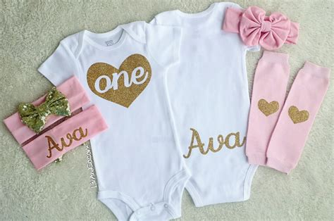 personalized set gold glitter shirt bodysuit by 1st birthday personalized birthday shirts