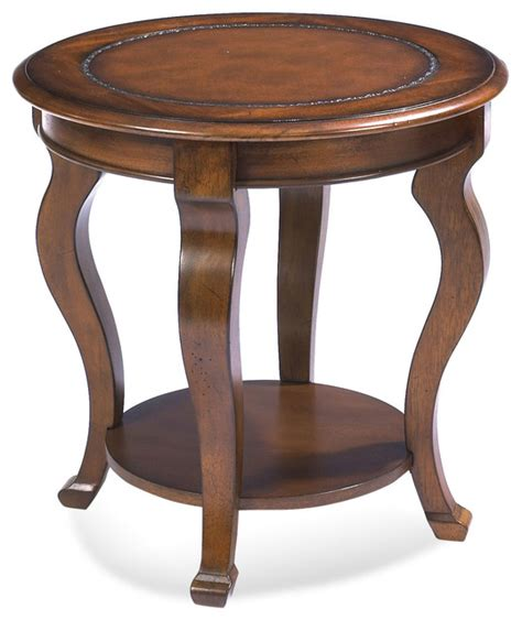 pontevecchio round end table cameo legs traditional