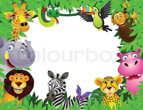 animal jungle animal in the jungle stock vector colourbox