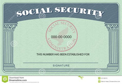 Social Security Card Template by Social Security Card Template Tryprodermagenix Org