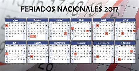 Calendario 2017 Con Feriados Nacionales Cronograma Con Feriados Nacionales 2017 Econoblog