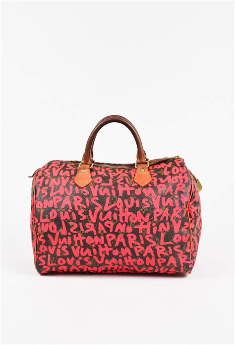 louis vuitton  stephen sprouse hot pink brown graffiti