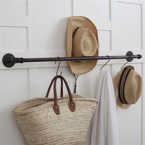 etagere vintage holz 36 quot plumbing pipe storage bar pot rack towel bar flea