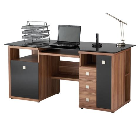 Black Executive Modular Furniture For Home Office Office Office Computer Desk