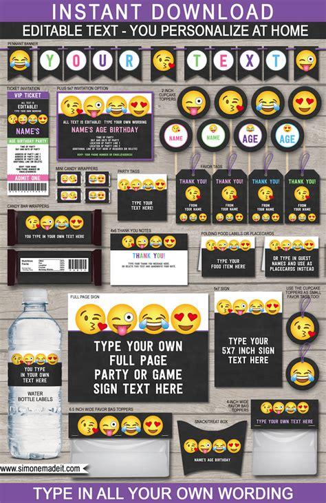 gift bag templates free printable emoji party printables invitations amp decorations