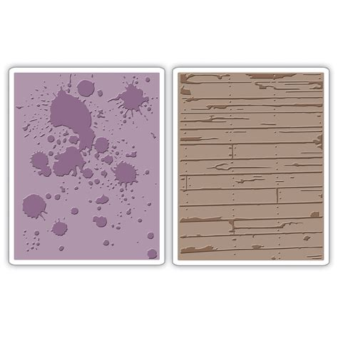 sizzix texture fades embossing folders ink splats wood