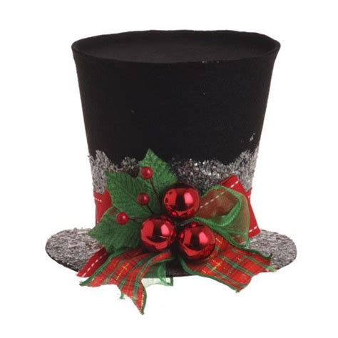 top hat ornaments and table decorations christmas