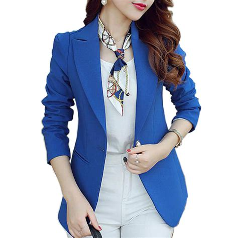 Blue Turqish Blazer T1310 1 green blue black blazers and jackets sleeved suit ms blazer femme blaser feminino