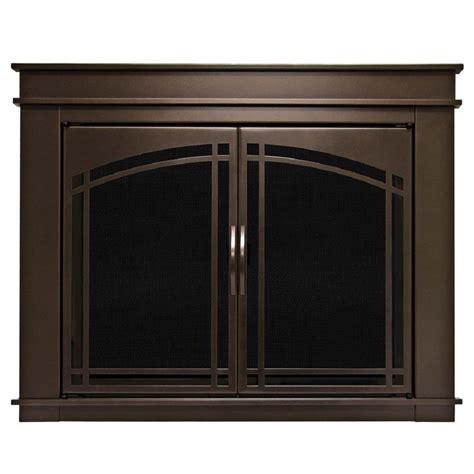 pleasant hearth fenwick small glass fireplace doors fn